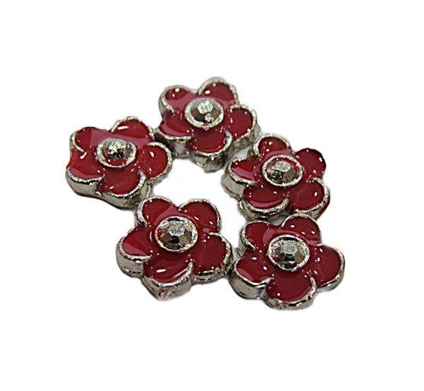 Secrets Pandora Niquel Florzinha Vermelha - 1 peça-SP012