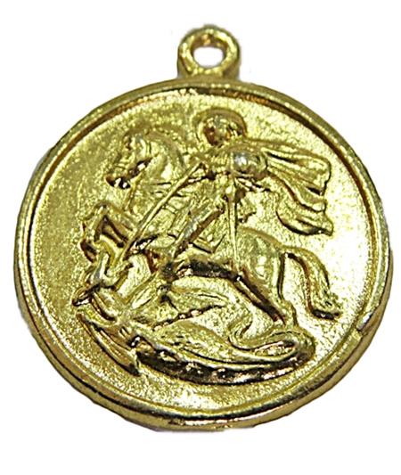 Pingente Dourado Medalha Ogum-POD040