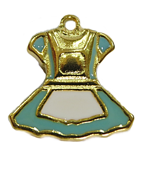 Pingente Dourado Vestido da Alice-PTD092