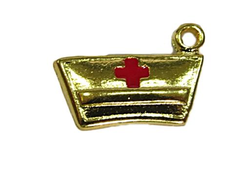 Pingente Dourado Chapeu Enfermeira PDT125