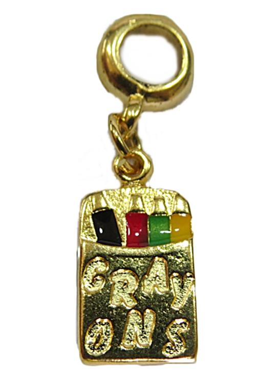 Berloque Dourado Caixa Lapis de Cor BED143