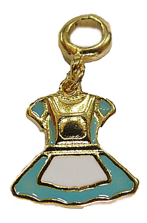 Berloque Dourado Vestido Alice Atraves do ESpelho BED149