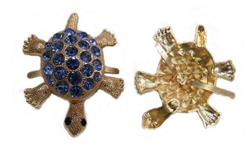 Entremeio costura Tartaruga dourada Azul Claro-EC053