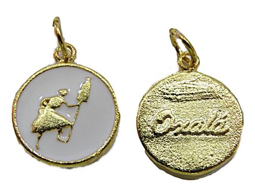 Ping. Medalha  Dourada e Niquel Resinada (Branca Oxalá) - pod025
