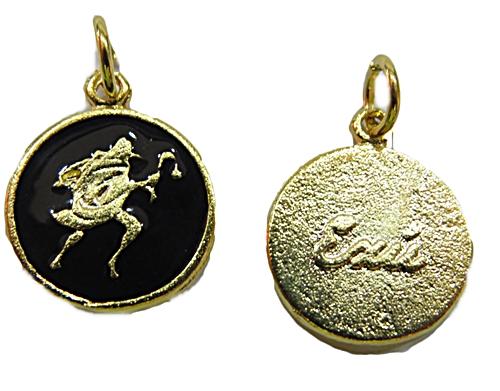 Ping. Medalha Dourada e Niquel Resinada (Preto Exú) - pod029