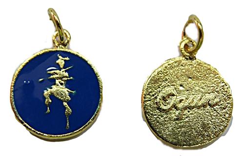 Ping. Dourada Medalha Resinada (Azul Bic Ogum) pod031