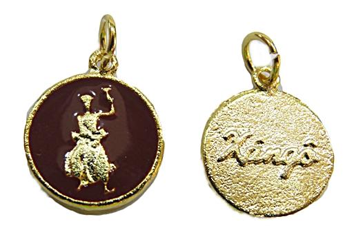 Ping. Dourada Medalha Resinada (Marrom Xangô) pod033