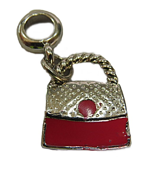 Berloque Niquel Bolsa Resinada Vermelha G-ben201