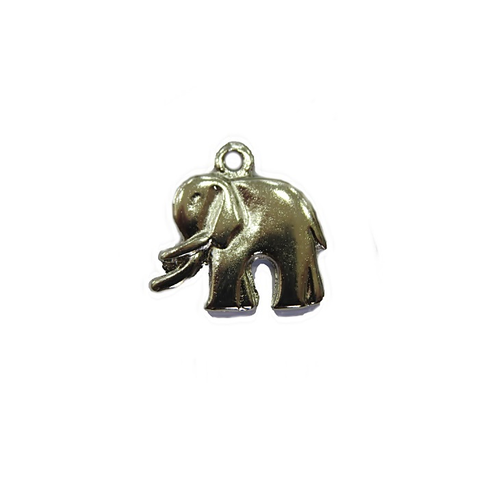 Pingente Elefante médio níquel - PTN034