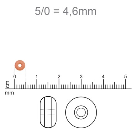 Miçanga Jablonex Cristal Lustrosa-5/0-(500 gramas) atacado miç073