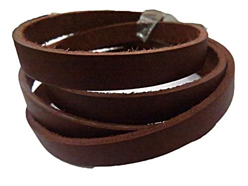Couro Natural chocolate (1,0 cm )1 metro Cou052