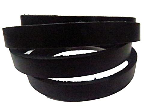 couro natural preto (1,0 cm)-1 metro cou053