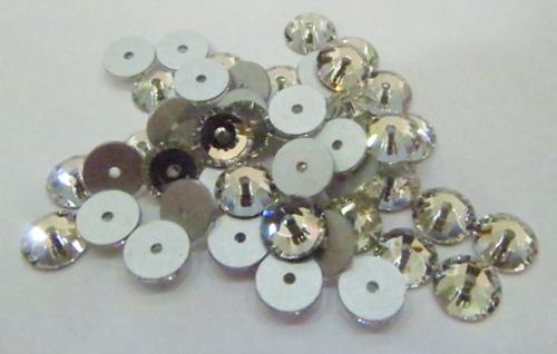 Chaton Costura SS16-Cristal -1 furo -(100 peças)-chc026