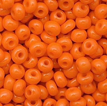 Miçanga Jablonex laranja-2/0 Canjicão - (25 gramas)-miçp001
