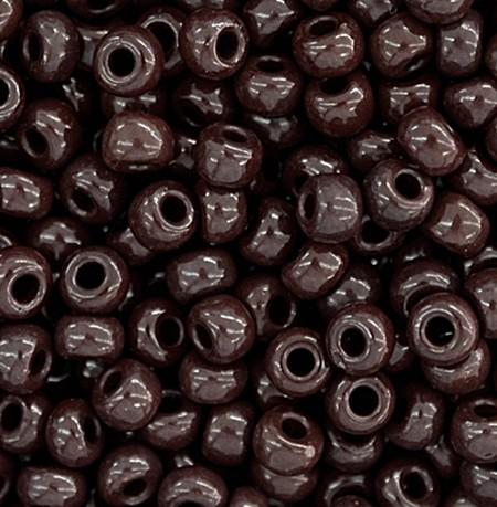 Miçanga jablonex Marrom escuro-2/0 Canjicão - (500 gramas) -miçp008