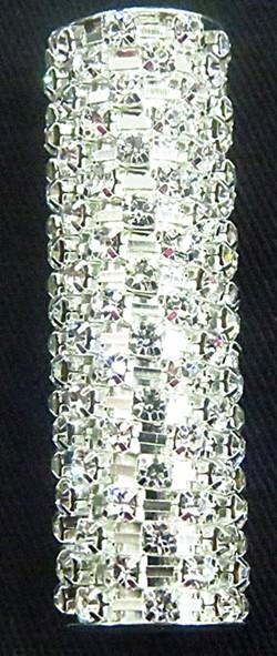Entremeio strass niquel claro tubo-es001