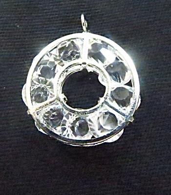 Pingente c/ cristal Niquel redondo P-pc001