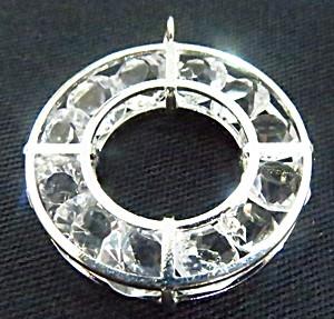 Pingente c/ cristal Niquel redondo G-pc002