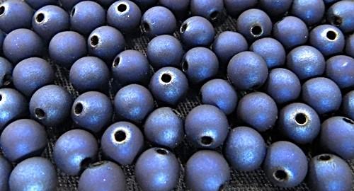 Bolinha Emborrachada Nº 08-Azulão Metalizado -(25grs)- BF009