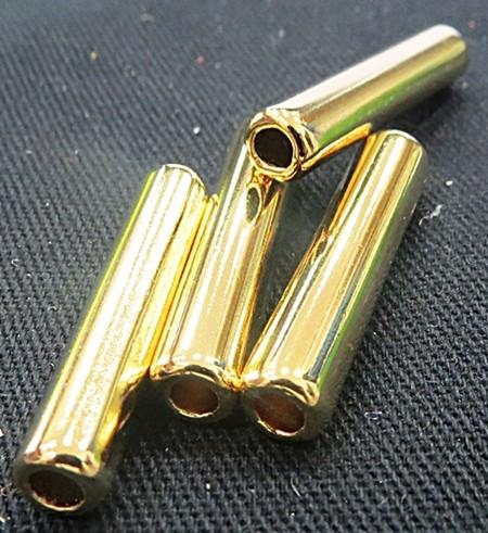 entremeio caninho roliço dourado-04 peças -ed081