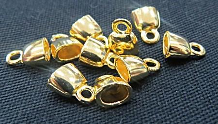 terminal dourado colagem mini achatado-10 peças tcd030