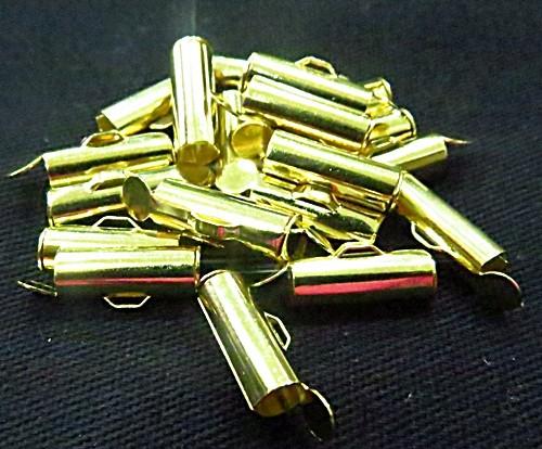 terminal de trilho dourado 1,5 cm 10 peças - tcd030