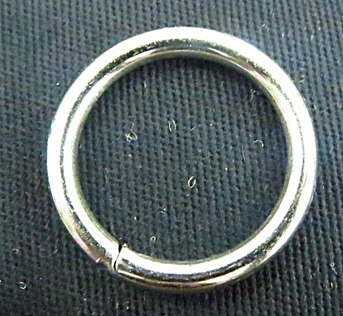 Argola de metal aberta niquel roliça-2,5 cm (10Pçs) - AN009