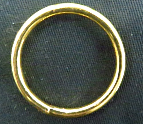 ATACADO-Argola de metal dourada aberta 2,9cm 50peças - AD009