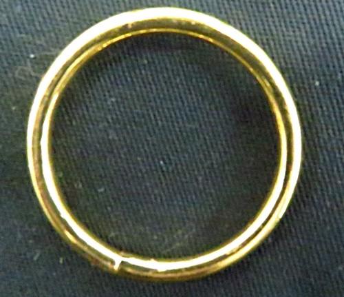 Argola de metal dourada aberta - 4,0 cm-06 peças-AD011