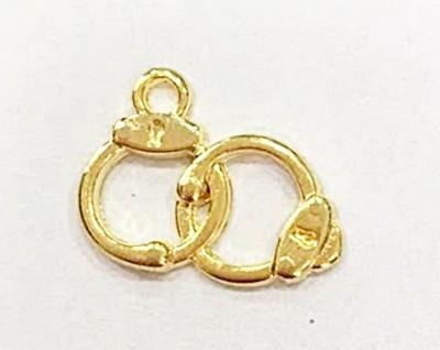 Pingente dourado algema - PTD180