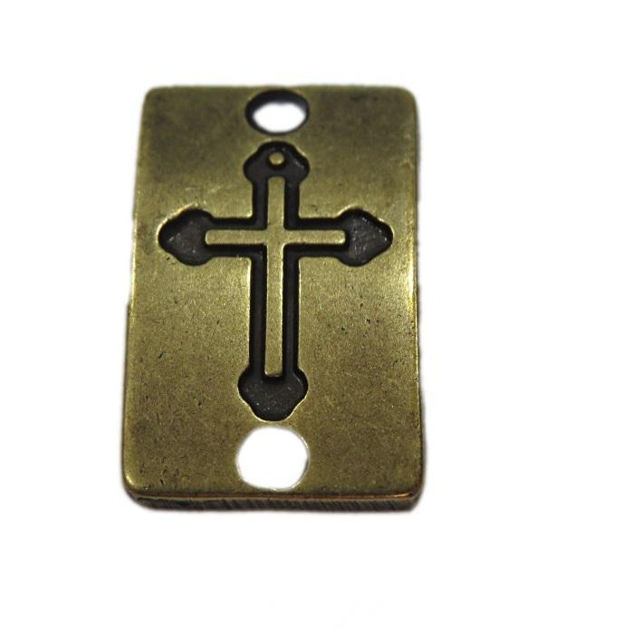 Entremeio Placa Ouro velho Cruz EO007