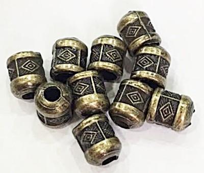Ponteira ouro velho redonda trabalhada Aberta -10 peças- PAO005