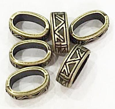 Entremeio ouro velho argola oval trabalhada-06 peças-EO111