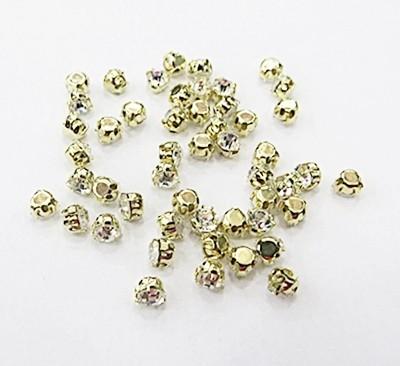 Strass costura dourado-SS16-50 peças-tac047