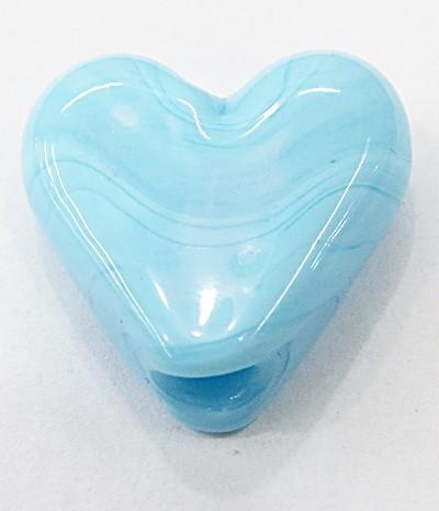 coração Pequeno Murano AZUL BEBE Leitoso-MU906