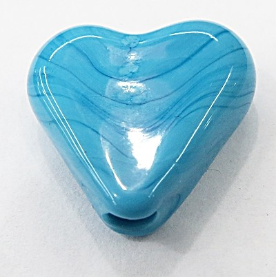 coração Pequeno Murano AZUL TURQUESA Leitoso-MU907