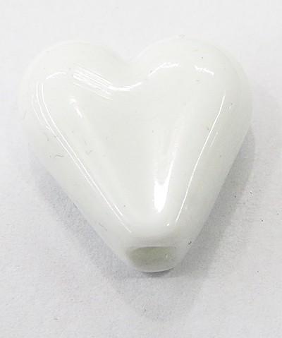 coração Pequeno Murano BRANCO Leitoso-MU908