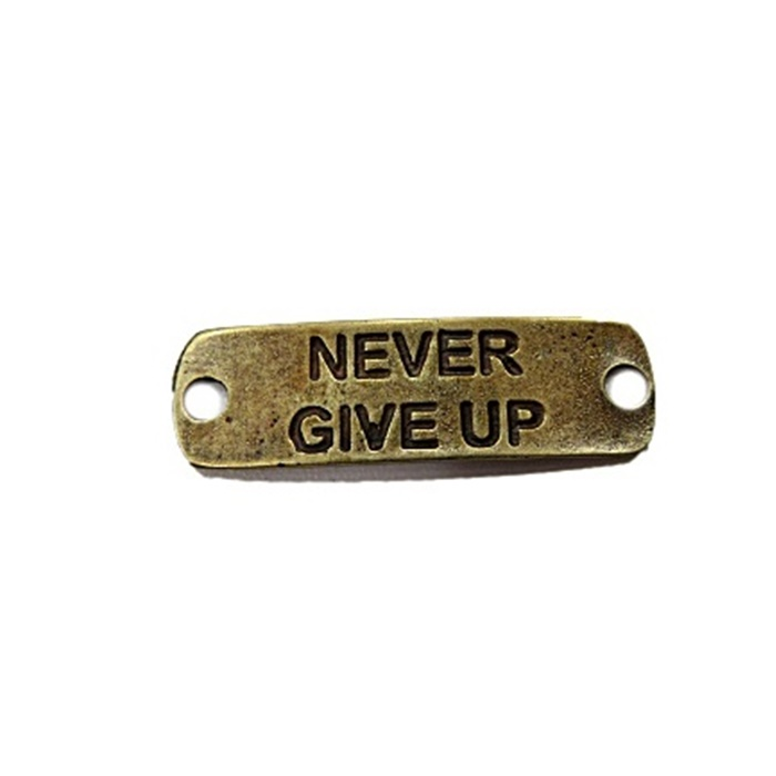 Entremeio Ouro Velho Placa (Never Give Up) EO024