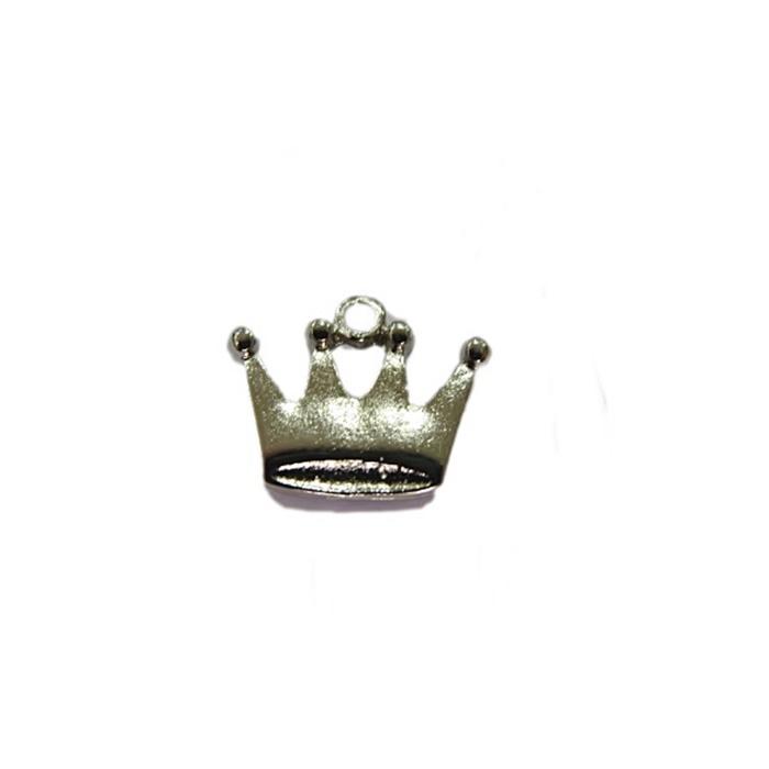 Pingente Coroa I níquel- PTN057(10 unidades)