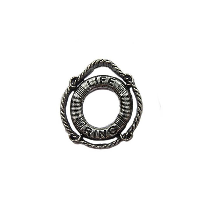 Entremeio níquel envelhecido Bóia (Life Ring) EN031