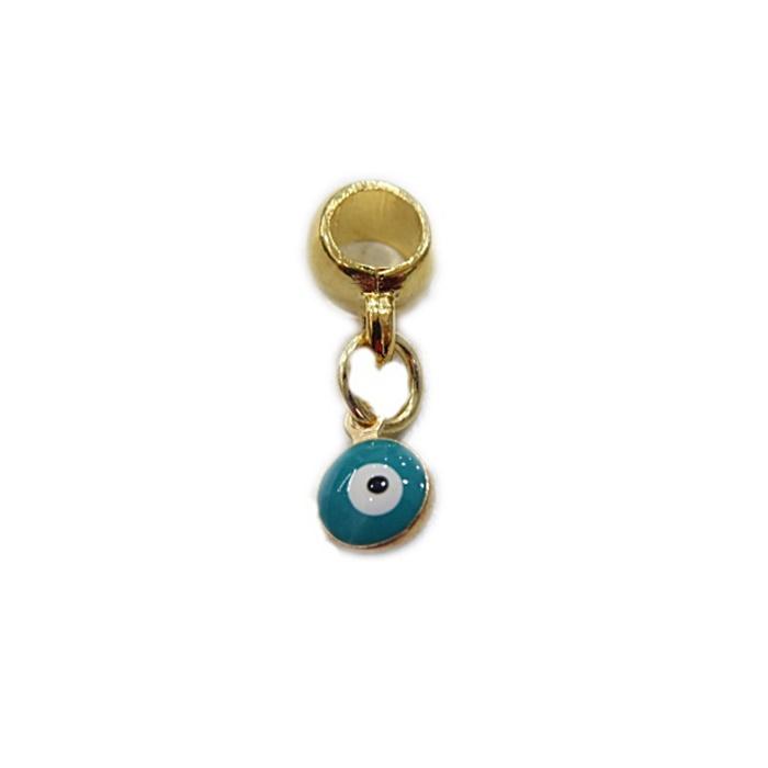 Berloque Dourado Olho Grego Resinado BED001