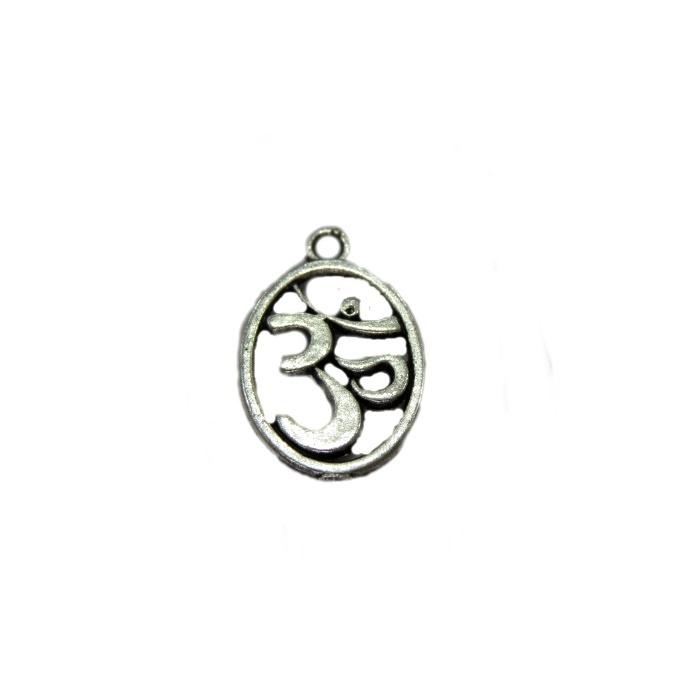 Pingente  Simbolo OM  níquel envelhecido (01 unidade)- PTN093