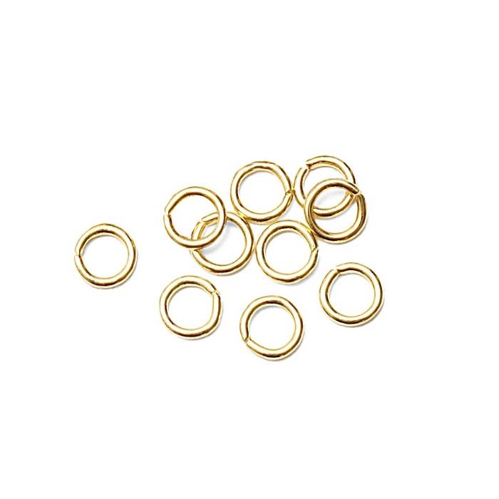 Argolinha Latão dourada Nº 04/ Nº 05/ Nº 06 ou Nº 07 (15 gramas)- ALD002