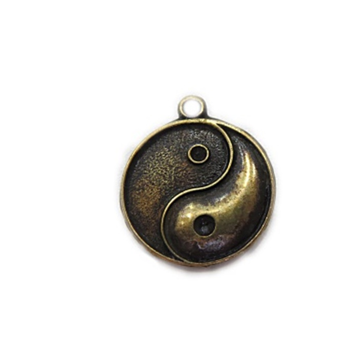 Pingente Yin yang ouro velho- PTO024