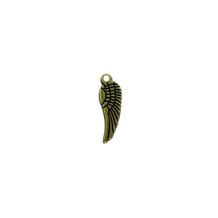 Pingente Asa VI pequena ouro velho- PTO026