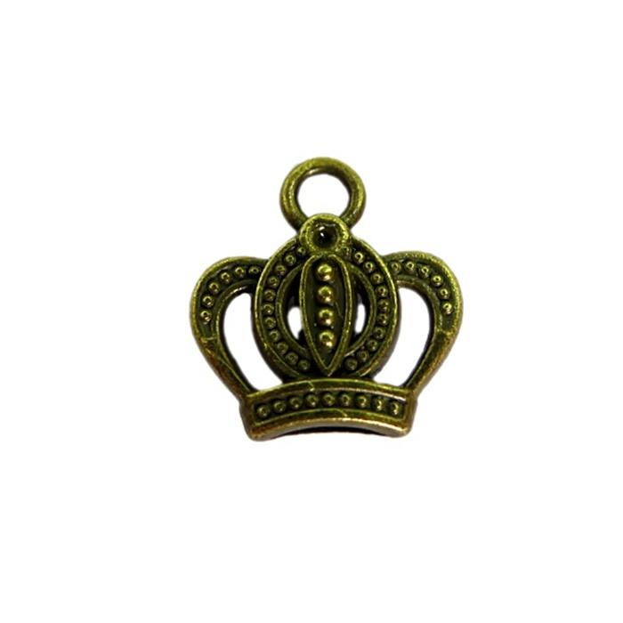 Pingente Coroa I ouro velho (10 unidades)- PTO033