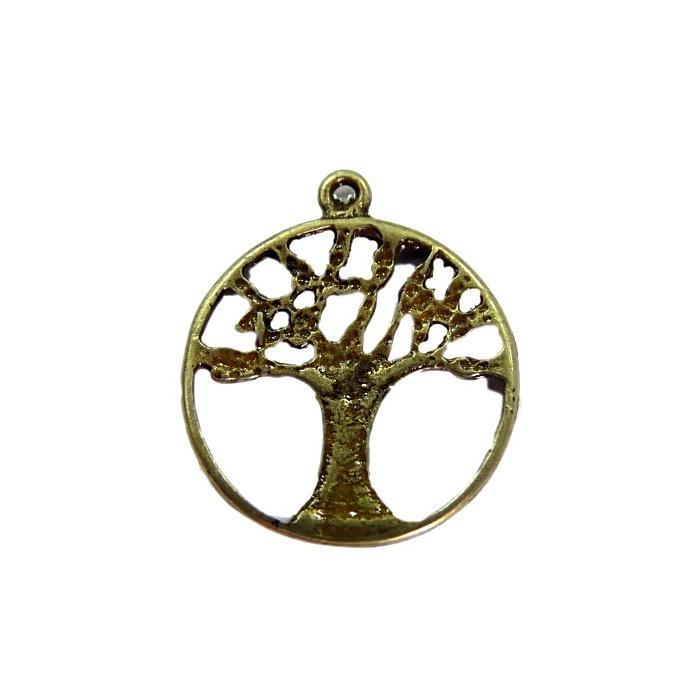 Pingente Árvore II ouro velho / Niquel Envelhecido- PTO042