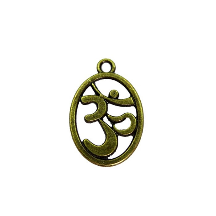 Pingente Simbolo OM ouro velho (10 unidades)- PTO045