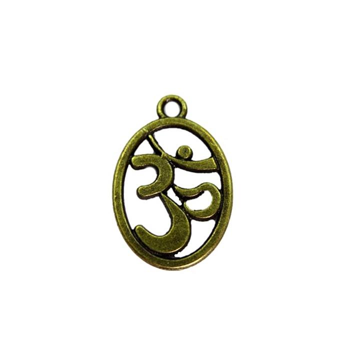 Pingente Simbolo OM ouro velho (01 unidade)- PTO045
