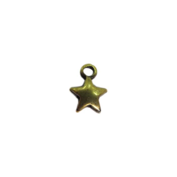 Pingente Estrela ouro velho 01Peça - PTO059
